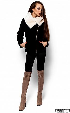 Пальто Аманда, Черный - фото 1