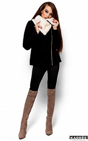 Пальто Аманда, Черный - фото 4