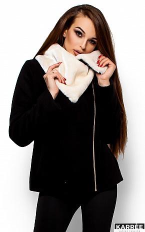 Пальто Аманда, Черный - фото 2