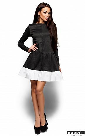 Платье Инга, Темно-серый - фото 1
