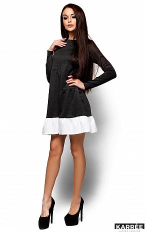 Платье Инга, Темно-серый - фото 4