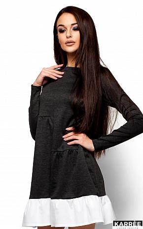 Платье Инга, Темно-серый - фото 2