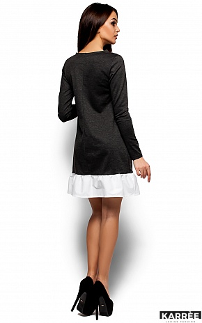 Платье Инга, Темно-серый - фото 3