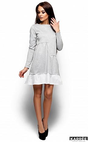 Платье Инга, Серый - фото 4