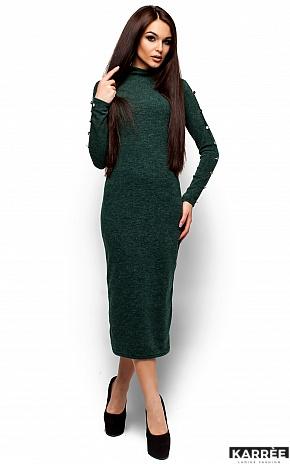 Платье Линда, Темно-зеленый - фото 1