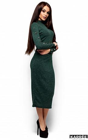 Платье Линда, Темно-зеленый - фото 4