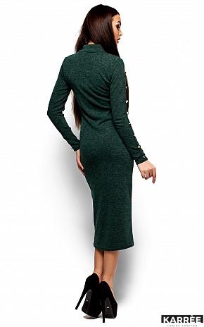 Платье Линда, Темно-зеленый - фото 3