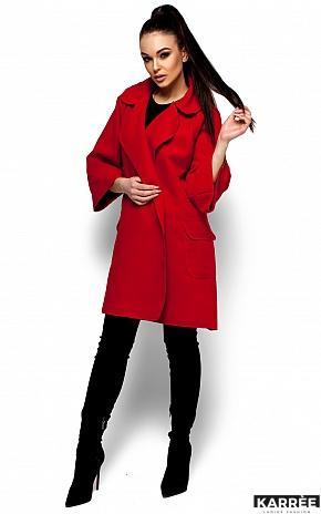 Пальто Зарина, Красный - фото 1