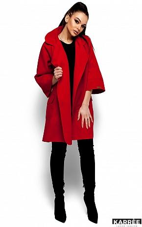 Пальто Зарина, Красный - фото 4