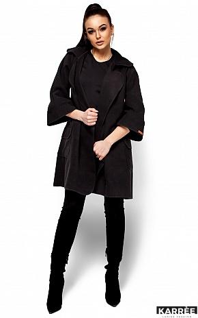 Пальто Зарина, Черный - фото 3