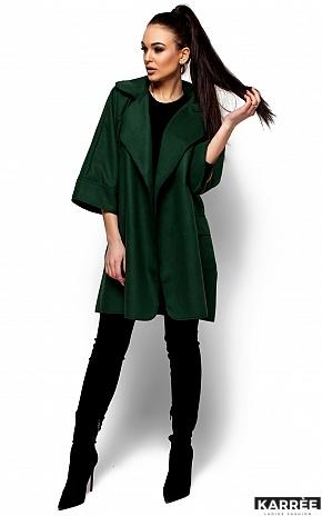 Пальто Зарина, Темно-зеленый - фото 1