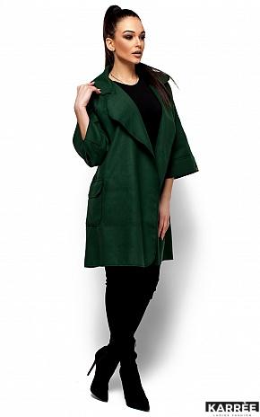 Пальто Зарина, Темно-зеленый - фото 3