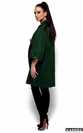 Пальто Зарина, Темно-зеленый - фото 4