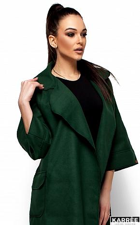 Пальто Зарина, Темно-зеленый - фото 2