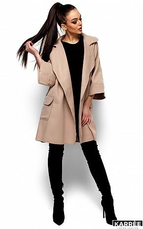 Пальто Зарина, Бежевый - фото 4