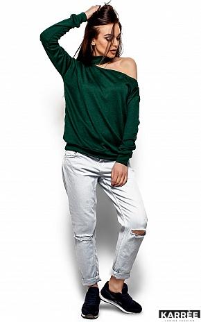 Кофта Оникс, Темно-зеленый - фото 4