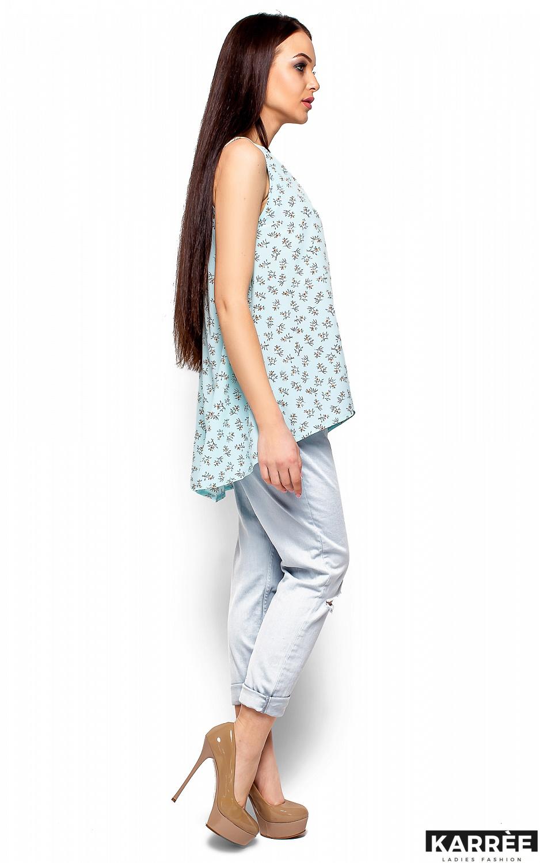 Блуза Моника, Голубой - фото 4