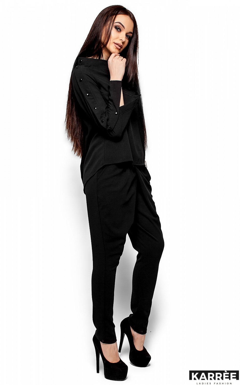 Блуза Вермут, Черный - фото 4