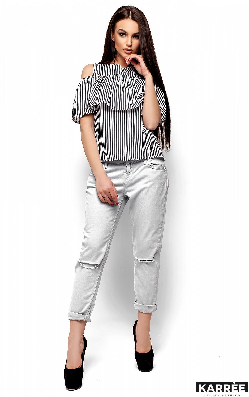 Блуза Каир, Черный - фото 4