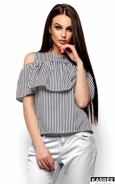 Блуза Каир, Черный - фото 2