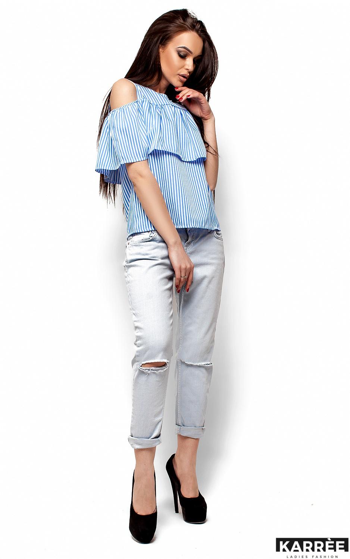 Блуза Каир, Голубой - фото 4