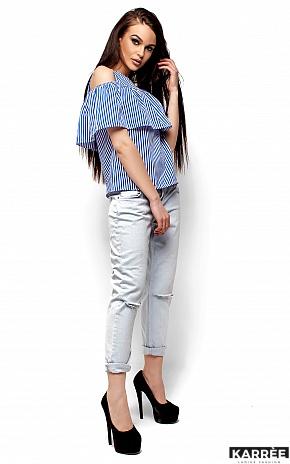 Блуза Каир, Синий - фото 4