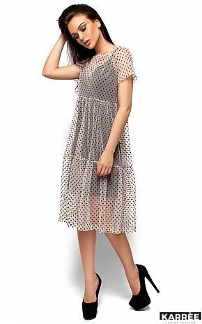 Платье Джина, Бежевый - фото 4