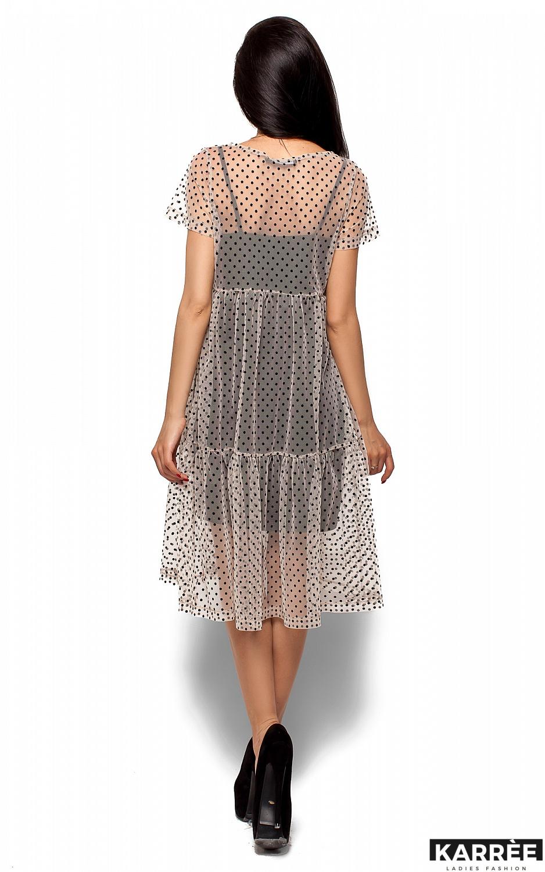 Платье Джина, Бежевый - фото 3