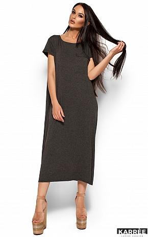 Платье Гвинет, Темно-серый - фото 1