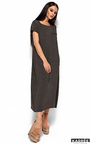 Платье Гвинет, Темно-серый - фото 5