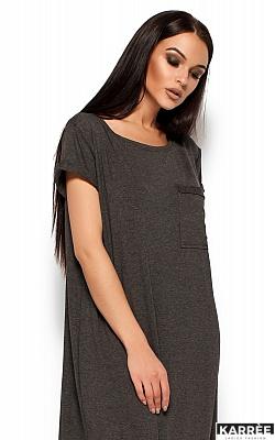 Платье Гвинет, Темно-серый