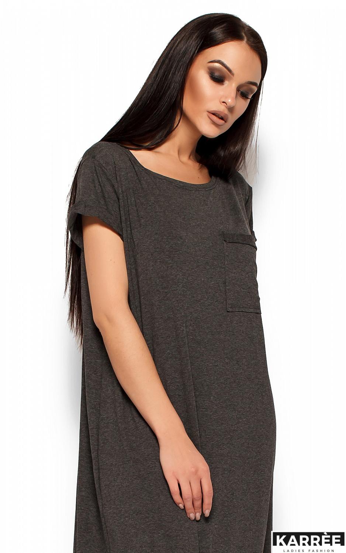 Платье Гвинет, Темно-серый - фото 2