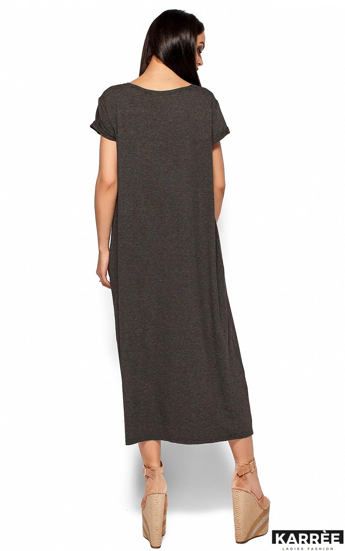 Платье Гвинет, Темно-серый - фото 4