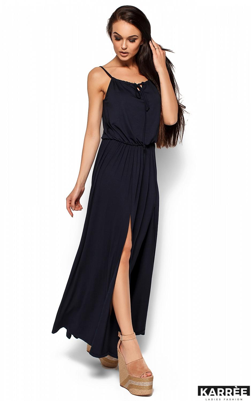 Платье Версаль, Темно-синий - фото 4