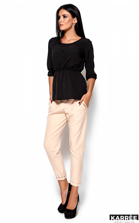 Блуза Орланда, Черный - фото 4