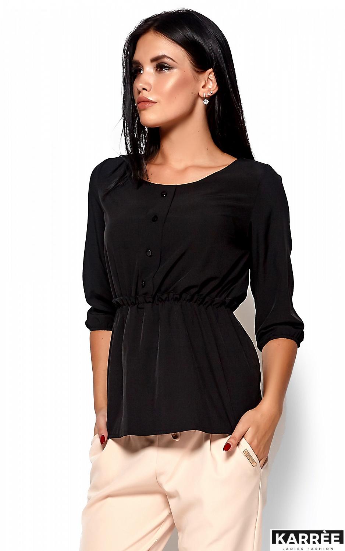 Блуза Орланда, Черный - фото 2
