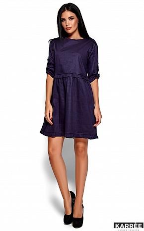 Платье Джита, Темно-синий - фото 5