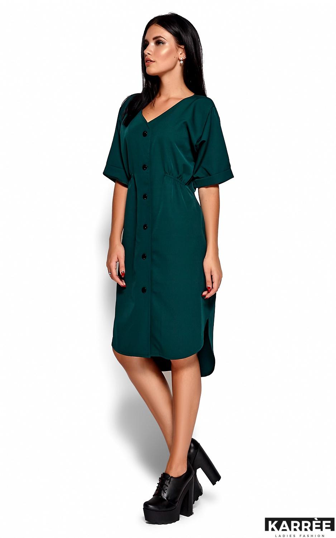 Платье Джазелин, Темно-зеленый - фото 4