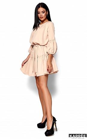 Платье Полина, Бежевый - фото 4