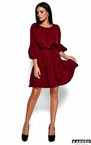Платье Полина, Марсала - фото 1