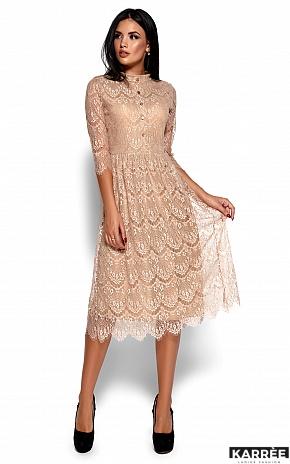 Платье Шанти, Бежевый - фото 1