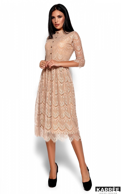 Платье Шанти, Бежевый - фото 4