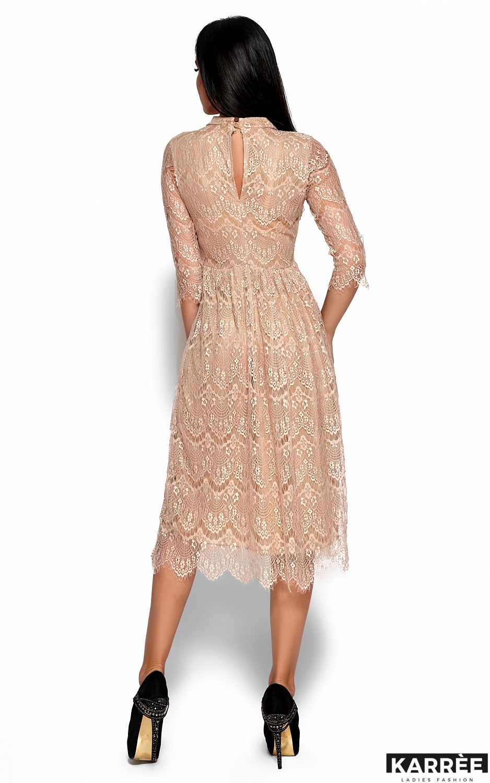 Платье Шанти, Бежевый - фото 3
