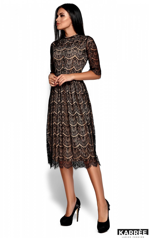Платье Шанти, Черный - фото 4