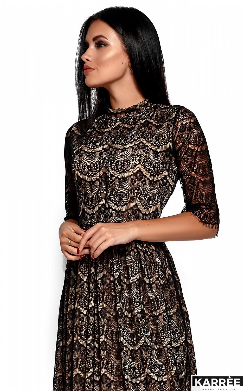 Платье Шанти, Черный - фото 2