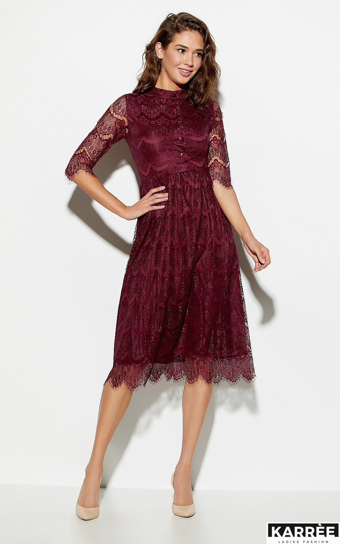 Платье Шанти, Бургунди - фото 3