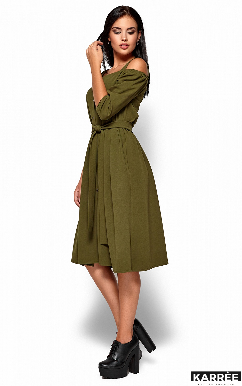Платье Летиция, Хаки - фото 4