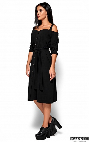 Платье Летиция, Черный - фото 5