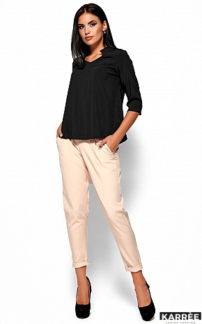 Блуза Малибу, Черный - фото 4