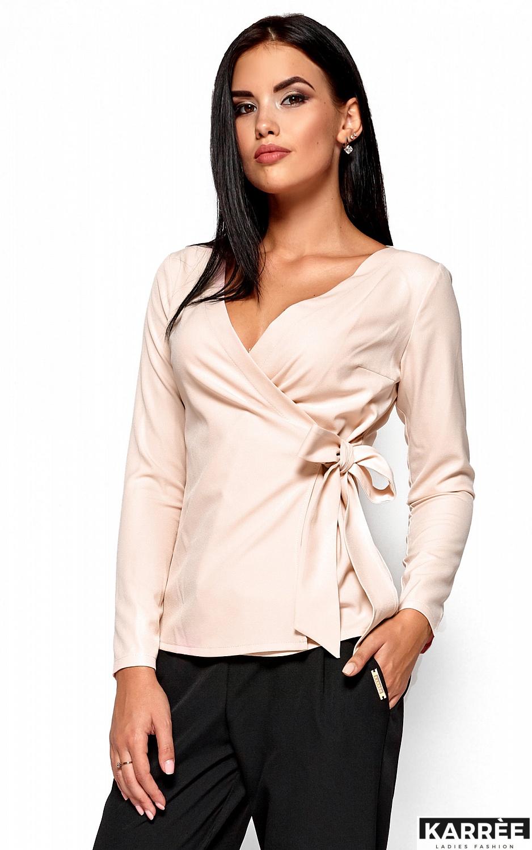 Блуза Сабрина, Кремовый - фото 2